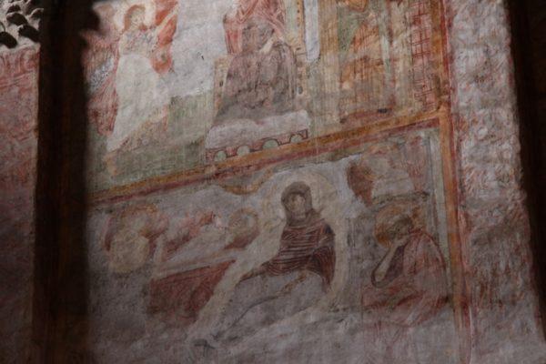 L'affresco raffigurante santa Cecilia (foto D. Massari)