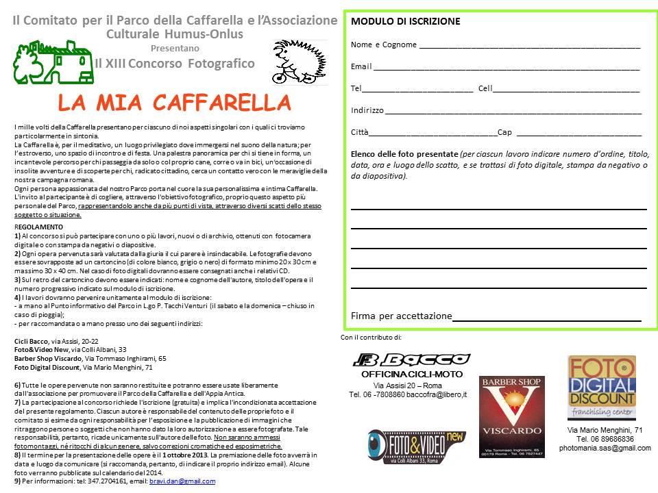 Bando_concorso_2013_LA_MIA_CAFFARELLA