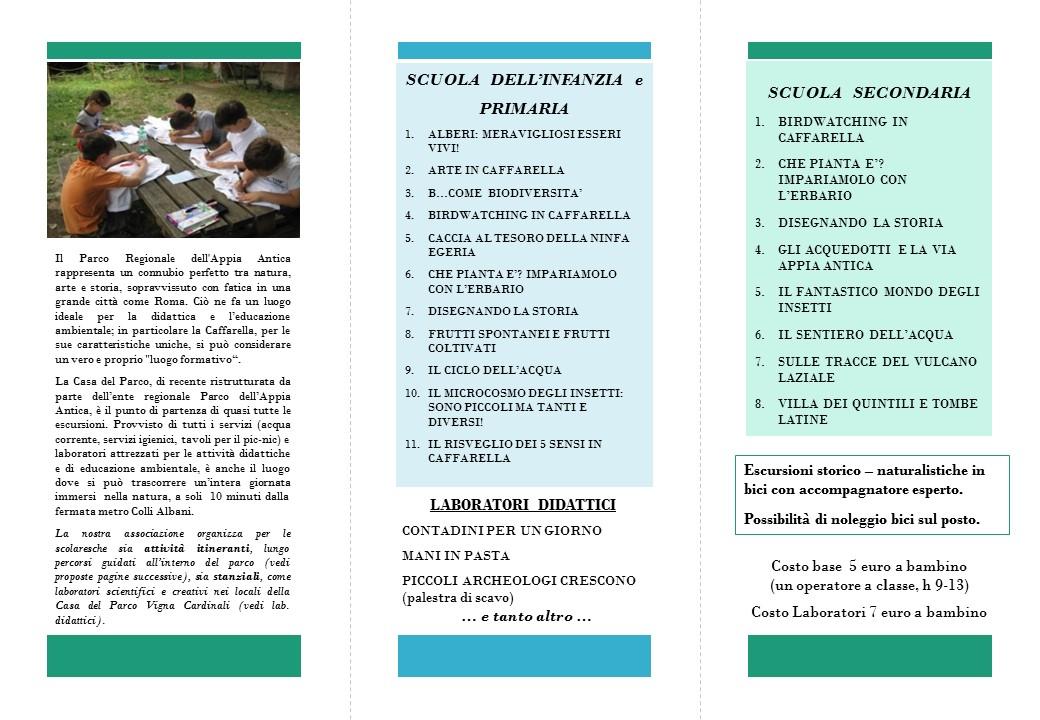 27-8 VOLANTINO SCUOLE CAFFARELLA