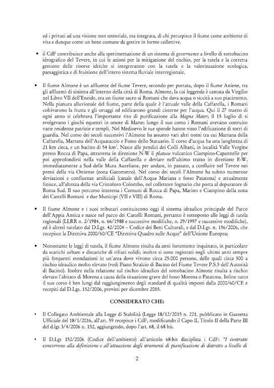 Contratto di fiume firmato 2