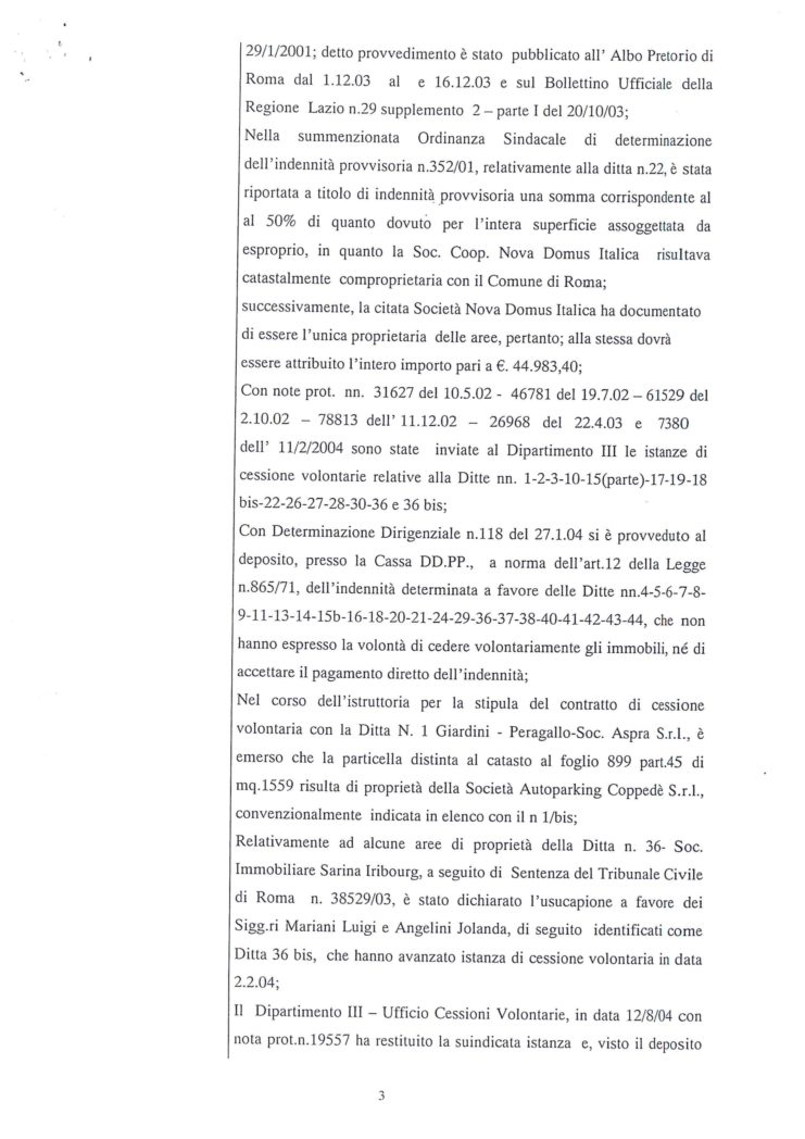 2005 Decreto esproprio Veltroni 10