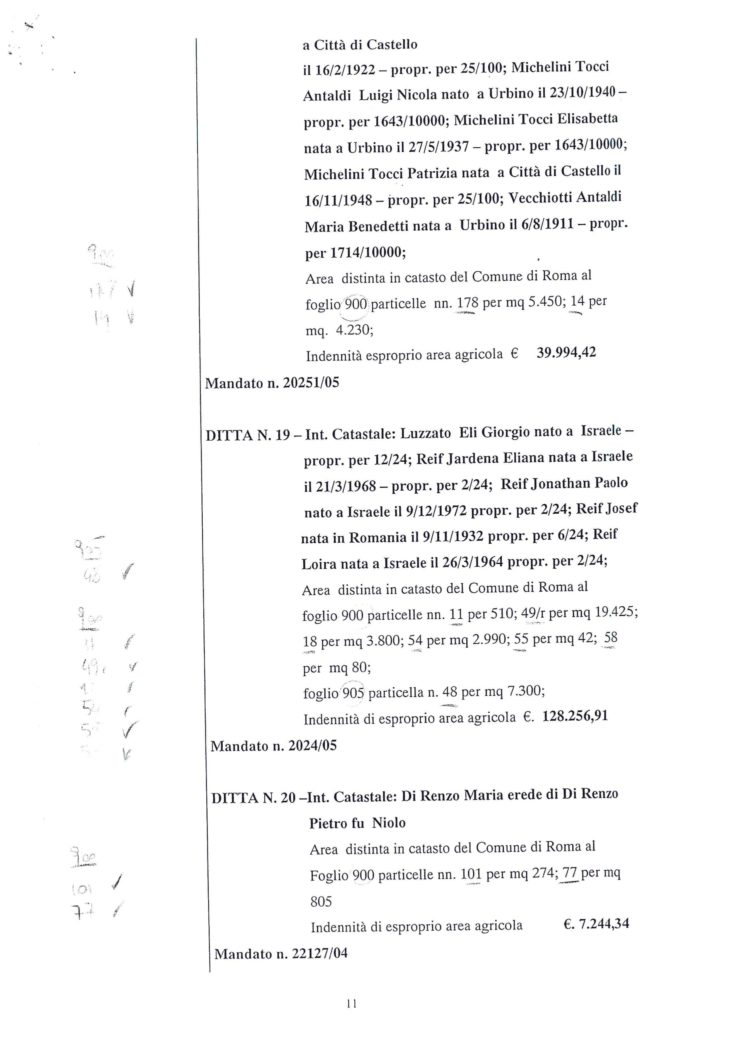2005 Decreto esproprio Veltroni 2