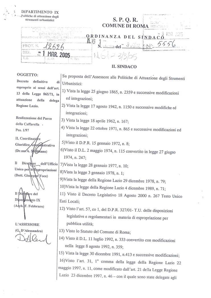 2005 Decreto esproprio Veltroni 8