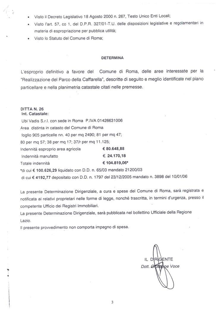 2006 Esproprio Ubi Vadis Caffarella
