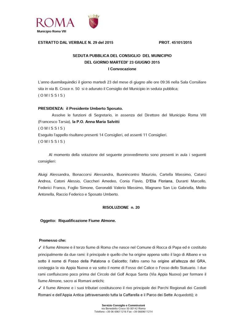 Risoluzione 20 Riqualificazione Almone 1