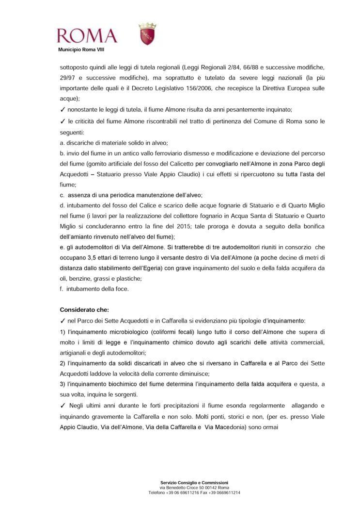 Risoluzione 20 Riqualificazione Almone 2