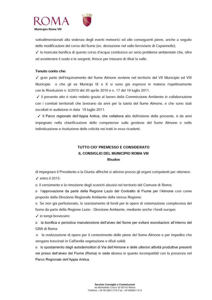 Risoluzione 20 Riqualificazione Almone 3