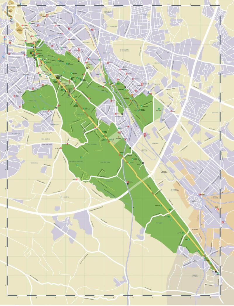 Mappa del Parco dellAppia Antica 002